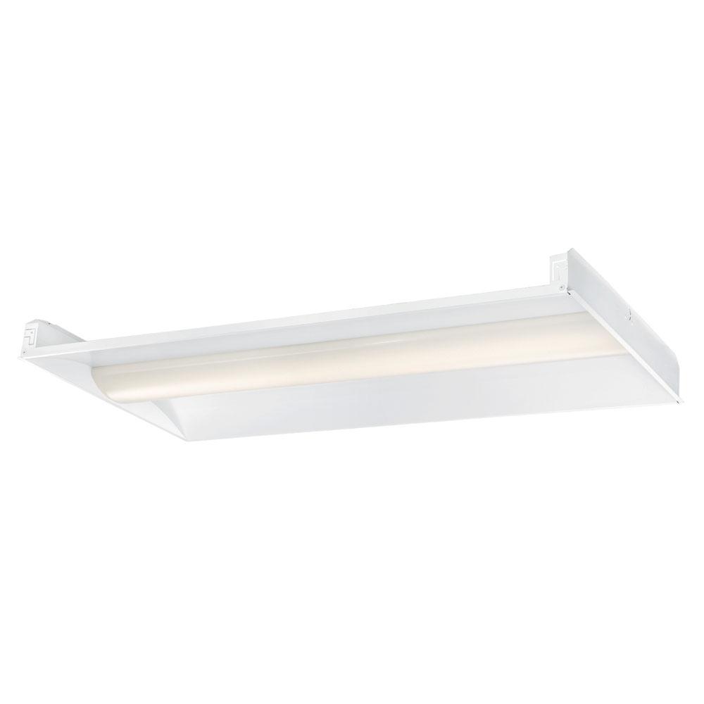 EnviroLite 2 ft. x 4 ft. 128-Watt Equivalent White Volumetric Integrated LED Grid Ceiling Troffer with Microwave Occupancy Sensor