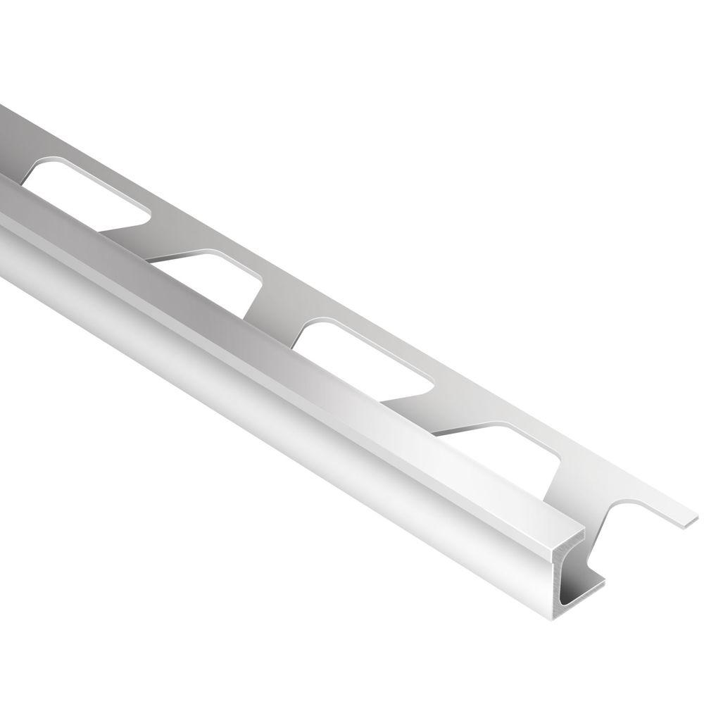 Schluter Deco Satin Anodized Aluminum 1/2 in. x 8 ft. 2-1/2 in. Metal Tile Edging Trim