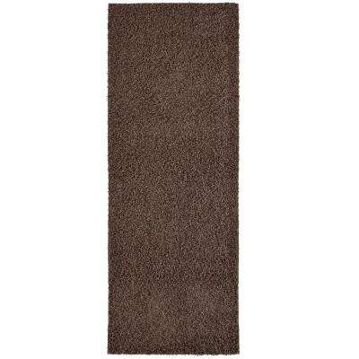 Custom Shag Brown 2 ft. x 8 ft. Indoor Runner Rug
