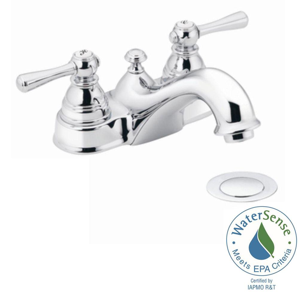 Bon 2 Handle Bathroom Faucet In Chrome With Drain Assembly