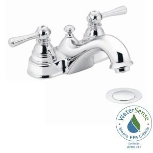 2handle bathroom faucet in chrome with drain assembly