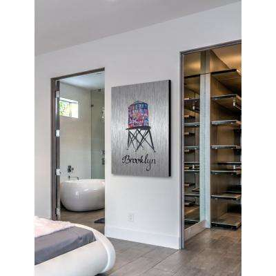 """60 in. H x 40 in. W """"Brooklyn Water Tower"""" by Marmont Hill Printed Brushed Aluminum Wall Art"""