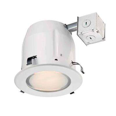 5 in. White Recessed Shower Kit
