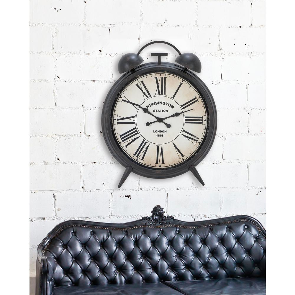 Vintage 40 in. Twin Bell Wall Clock