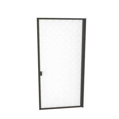 1000 Series 32-13/16 in. W x 70 in. H Semi-Frameless Pivot Shower Door in Oil Rubbed Bronze with Pull Handle