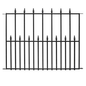 Amazing Black Steel 3 Rail Fence Panel 860190   The Home Depot