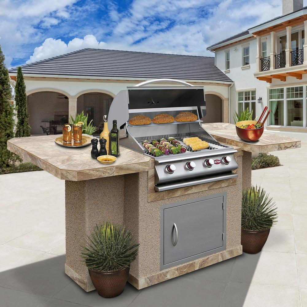 4 Burner Stainless Steel Propane Grill