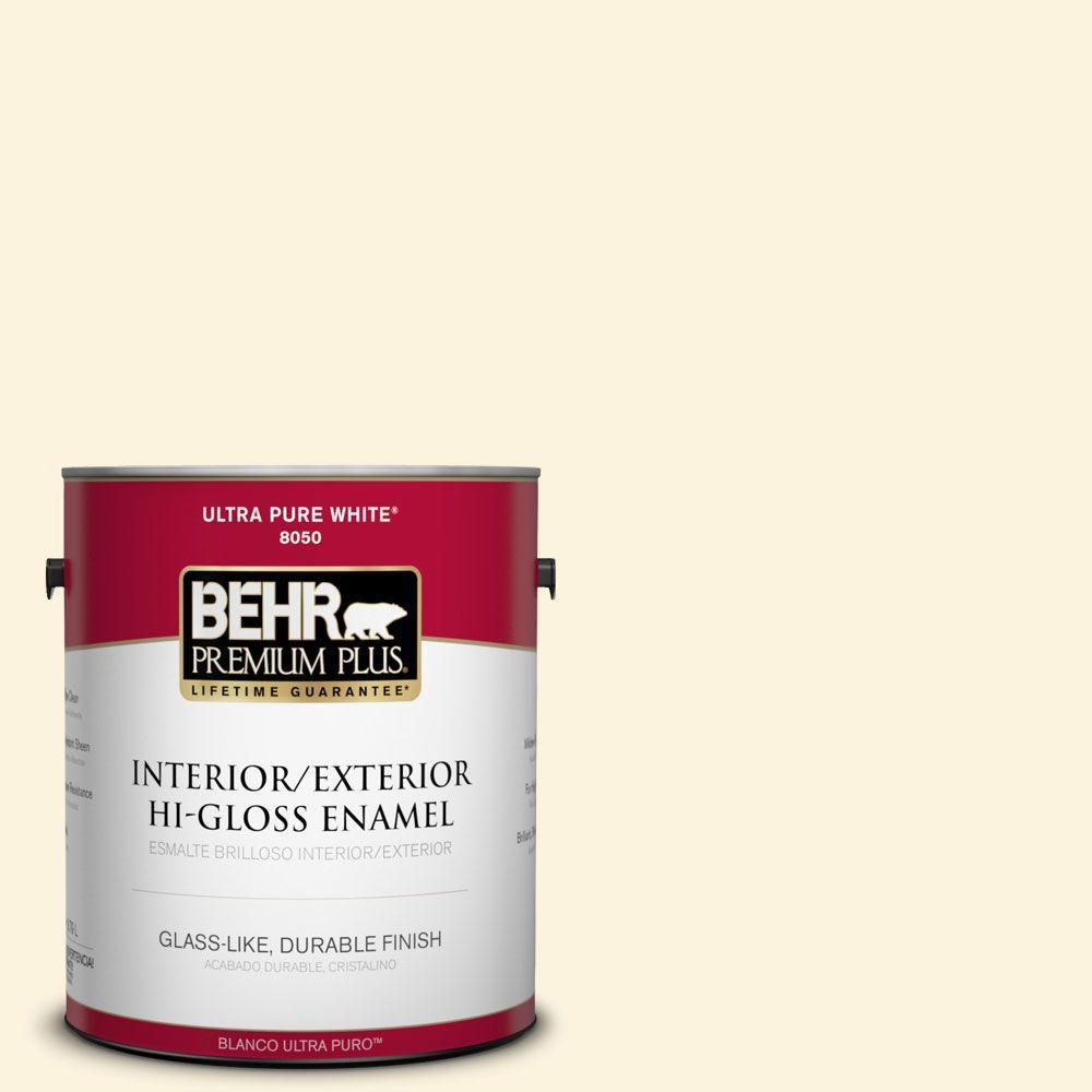 1-gal. #P260-1 Glass of Milk Hi-Gloss Enamel Interior/Exterior Paint