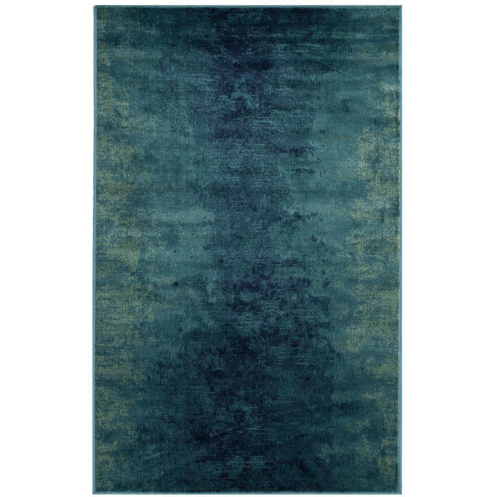 Vintage Turquoise/Multi 3 ft. x 4 ft. Area Rug