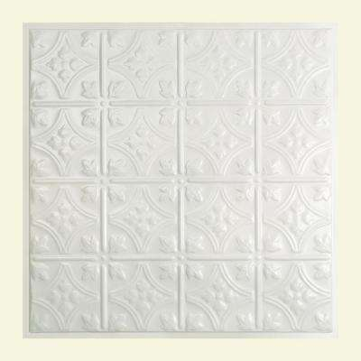 Hamilton 2 ft. x 2 ft. Lay-in Tin Ceiling Tile in Gloss White