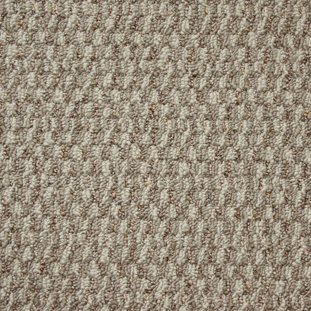 TrafficMASTER State of the Art - Color Silvertown Textured Graphic Berber 12 ft. Carpet