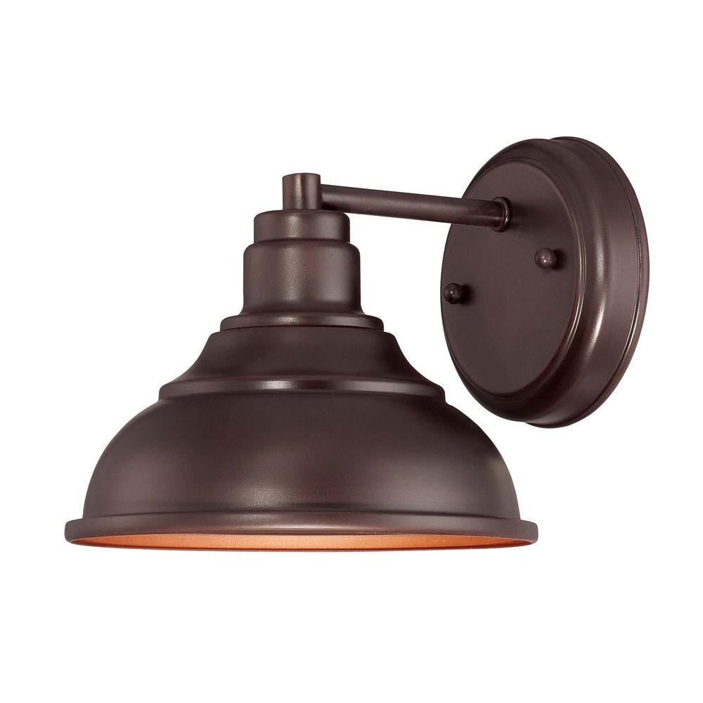 Satin Wall Mount Outdoor English Bronze Incandescent Sconce