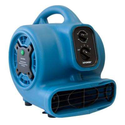 Freshen Aire 8.75 in. 800 CFM 4 Speeds Scented Air Mover Blower Fan with Timer and Negative Ion Generator