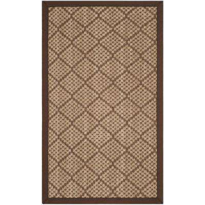 Natural Fiber Beige Brown 3 Ft X 5 Area Rug