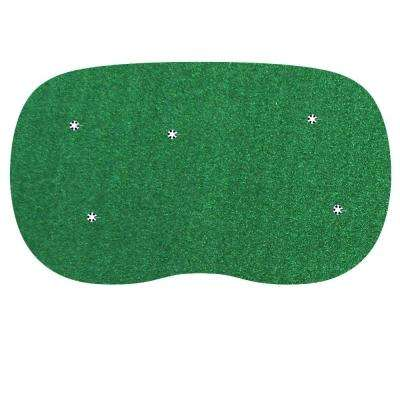 9 ft. x15 ft. Indoor/Outdoor Synthetic Turf 5-Hole Practice Putting Golf Green