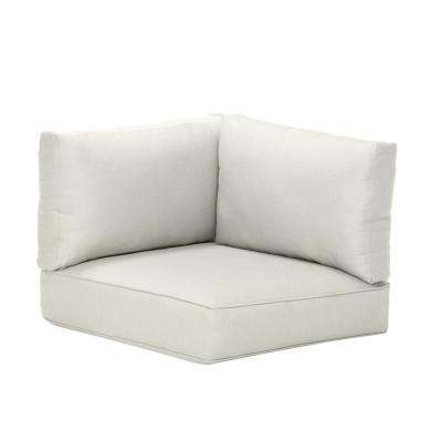 Commercial Grade Left Arm, Right Arm, or Corner Outdoor Sectional Chair Cushion in Sunbrella Canvas White