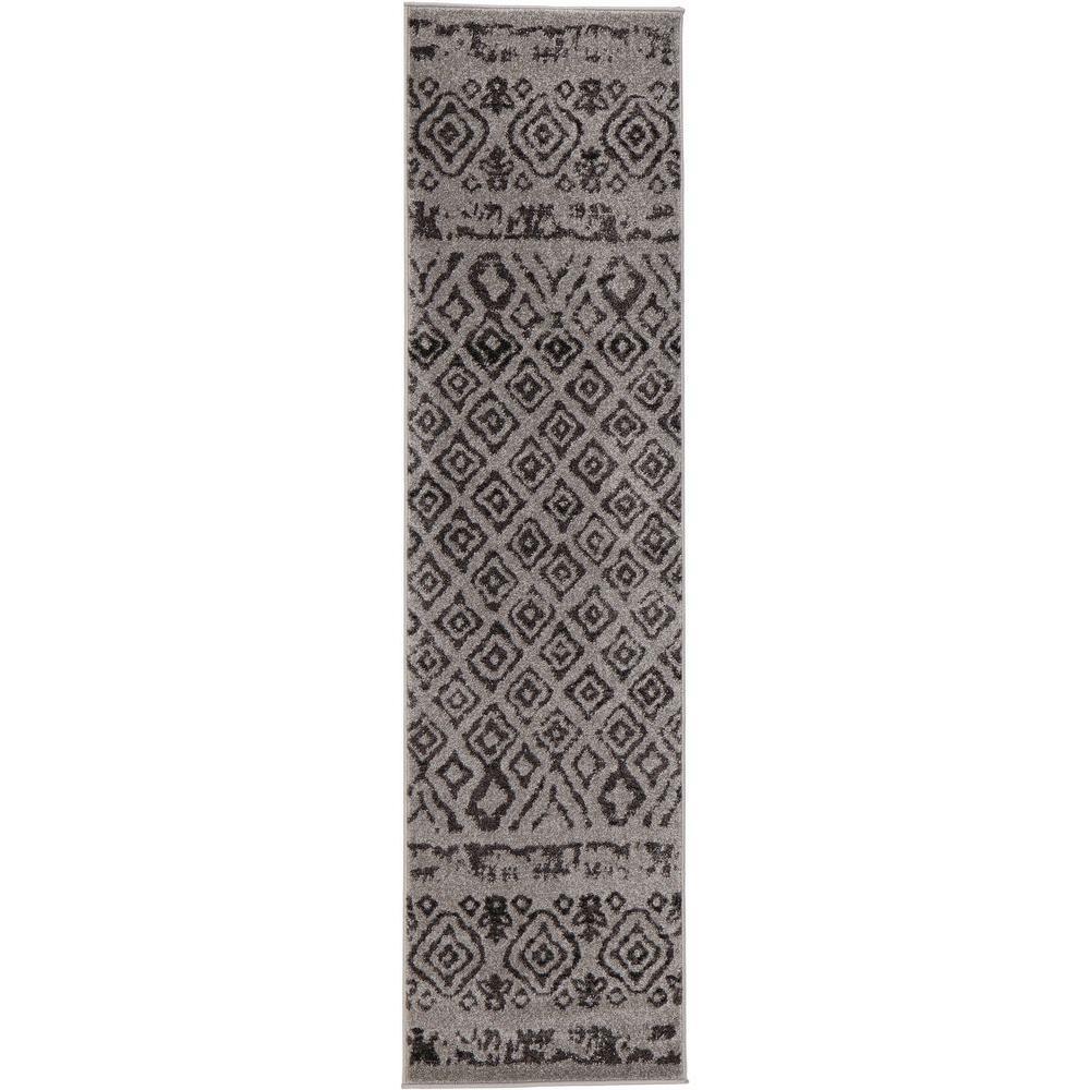 Tribal Essence Gray 2 ft. x 7 ft. Runner Rug