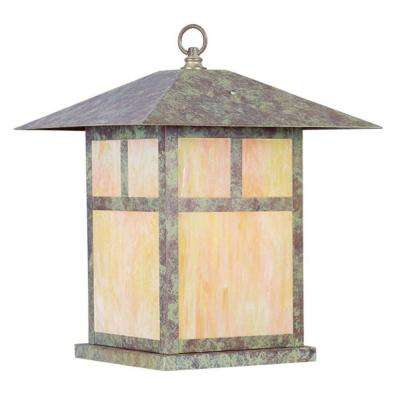 Providence 1-Light Dark Pewter Outdoor Incandescent Ceiling Flushmount