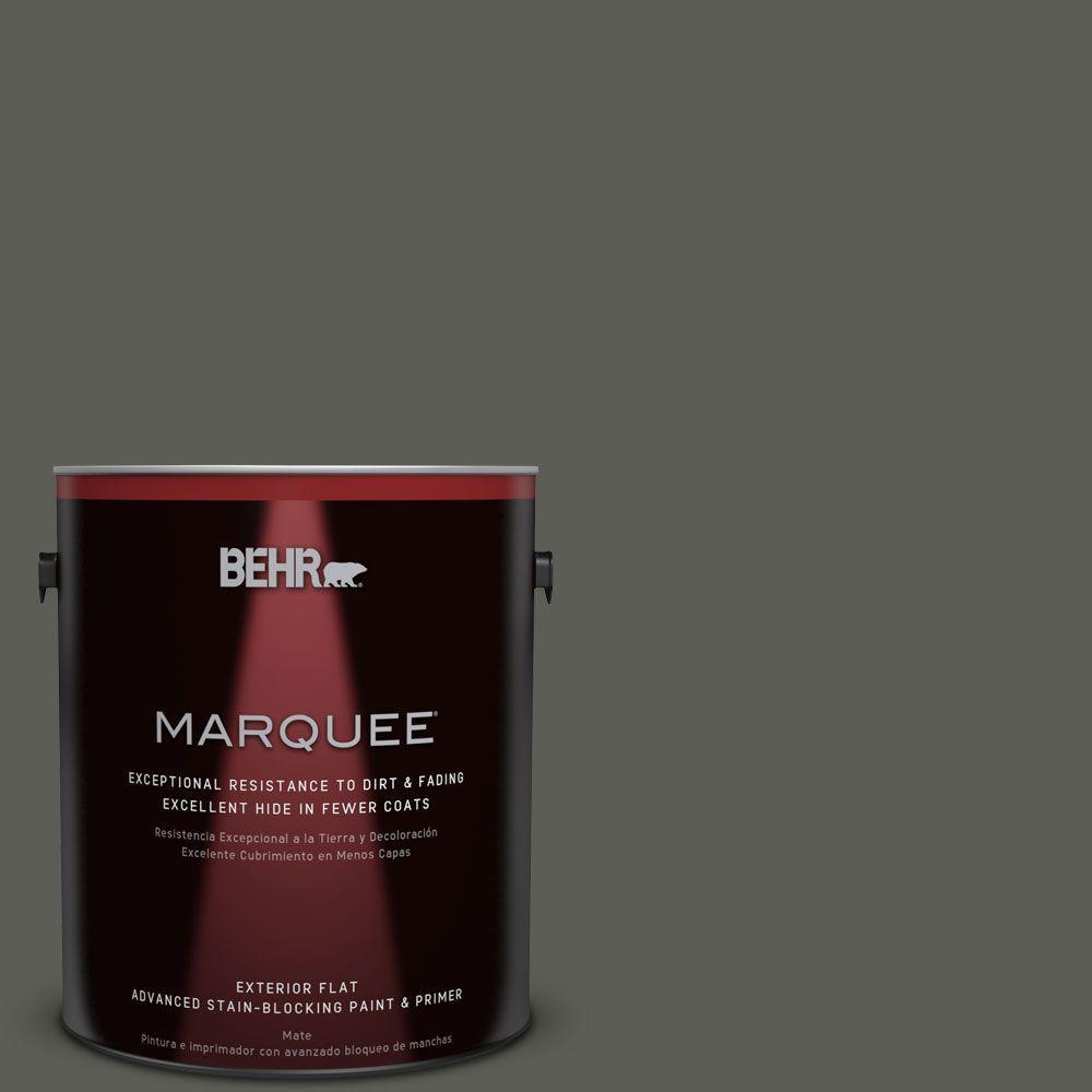 1-gal. #N380-7 Black Bamboo Flat Exterior Paint