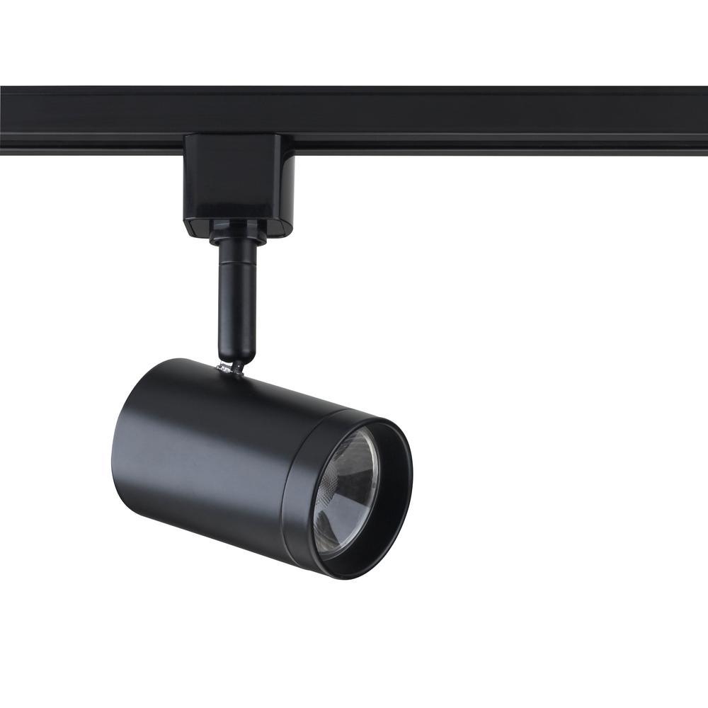 Black Integrated LED Track Lighting Head