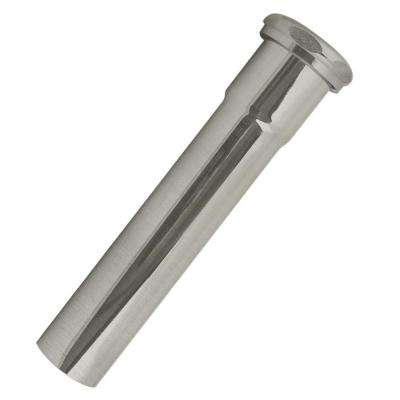 1-1/2 in. O.D. x 8 in. Slip Joint Extension Tube for Bathtub Drains, Satin Nickel