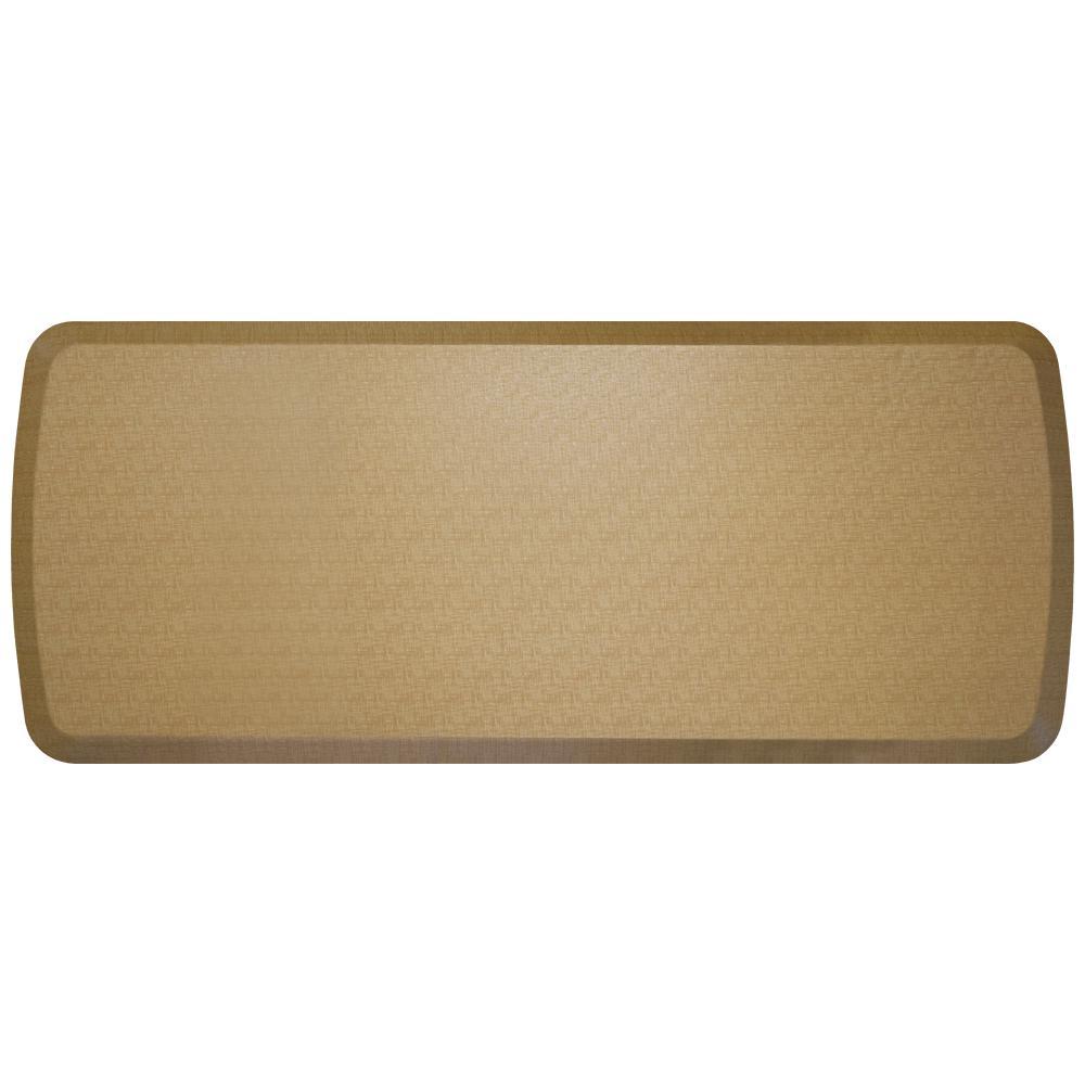 Elite Linen Khaki 20 In. X 48 In. Comfort Kitchen Mat