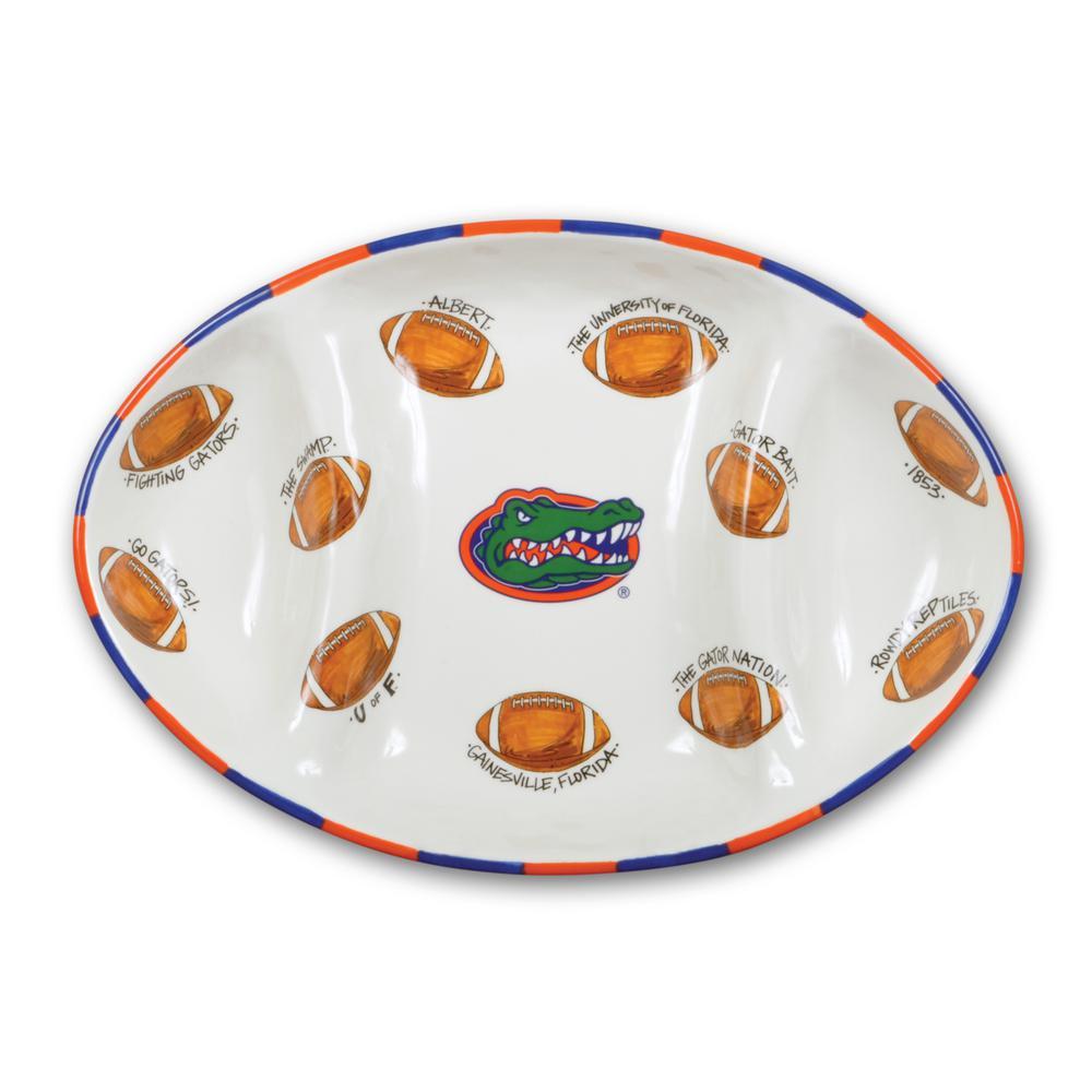 Florida Ceramic Football Tailgating Platter