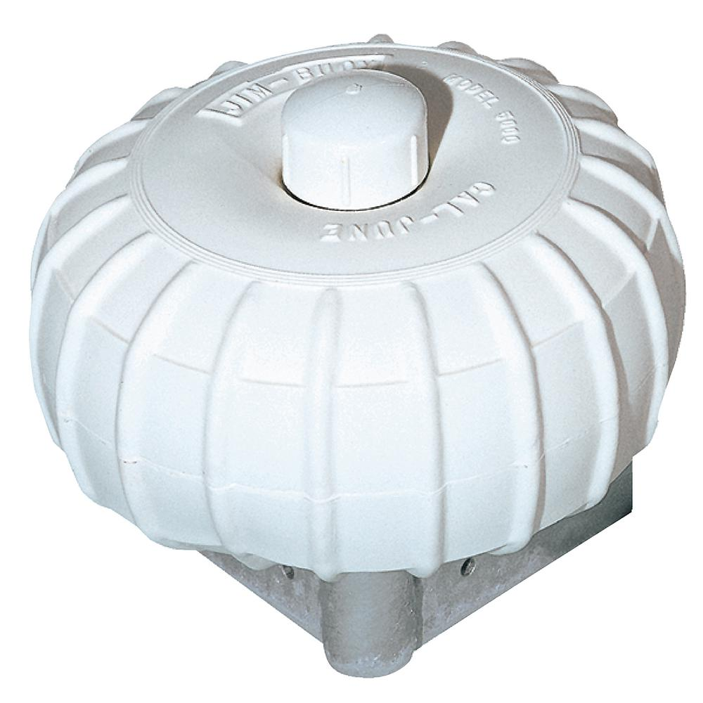 Jim-Buoy 12 in. Dia. x 6 in. Corner Mount Roller Bumper in White