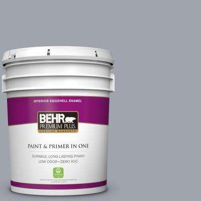 5 gal. #PPU26-19 Chance of Rain Eggshell Enamel Zero VOC Interior Paint and Primer in One