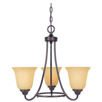 Madison 3-Light Oil Rubbed Bronze Interior Incandescent Chandelier