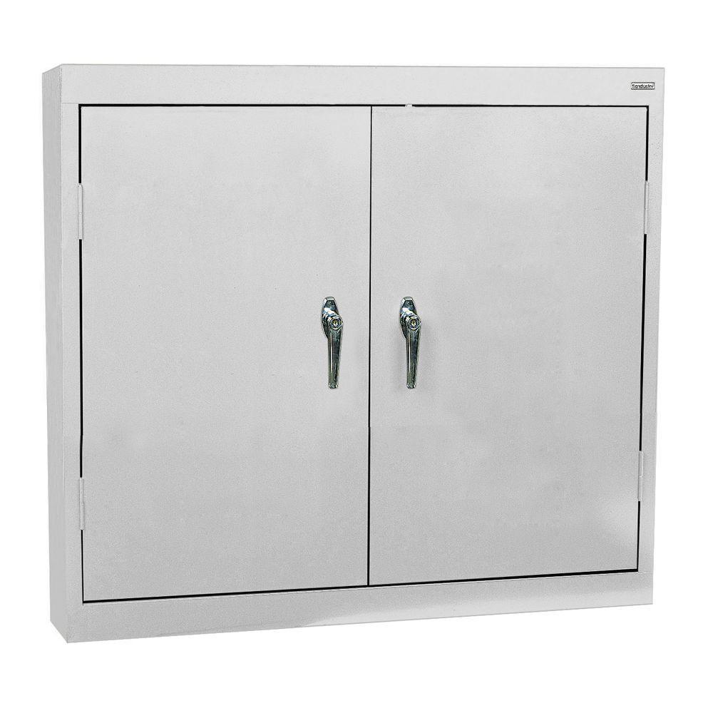 30 in. H x 36 in. W x 12 in. D Steel Wall Cabinet in Dove Gray