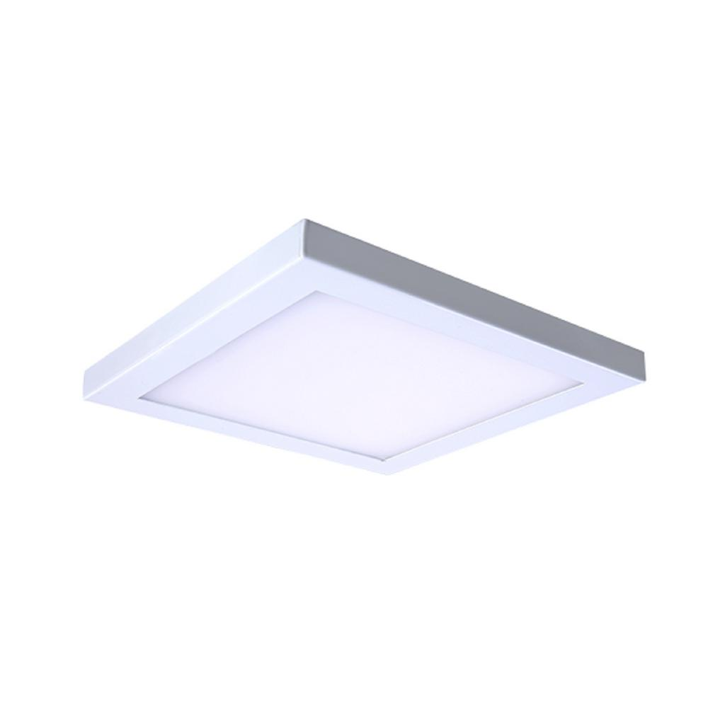 Square Platter Light Length 13 In White New Construction Recessed Integrated Led Trim Kit Fixture