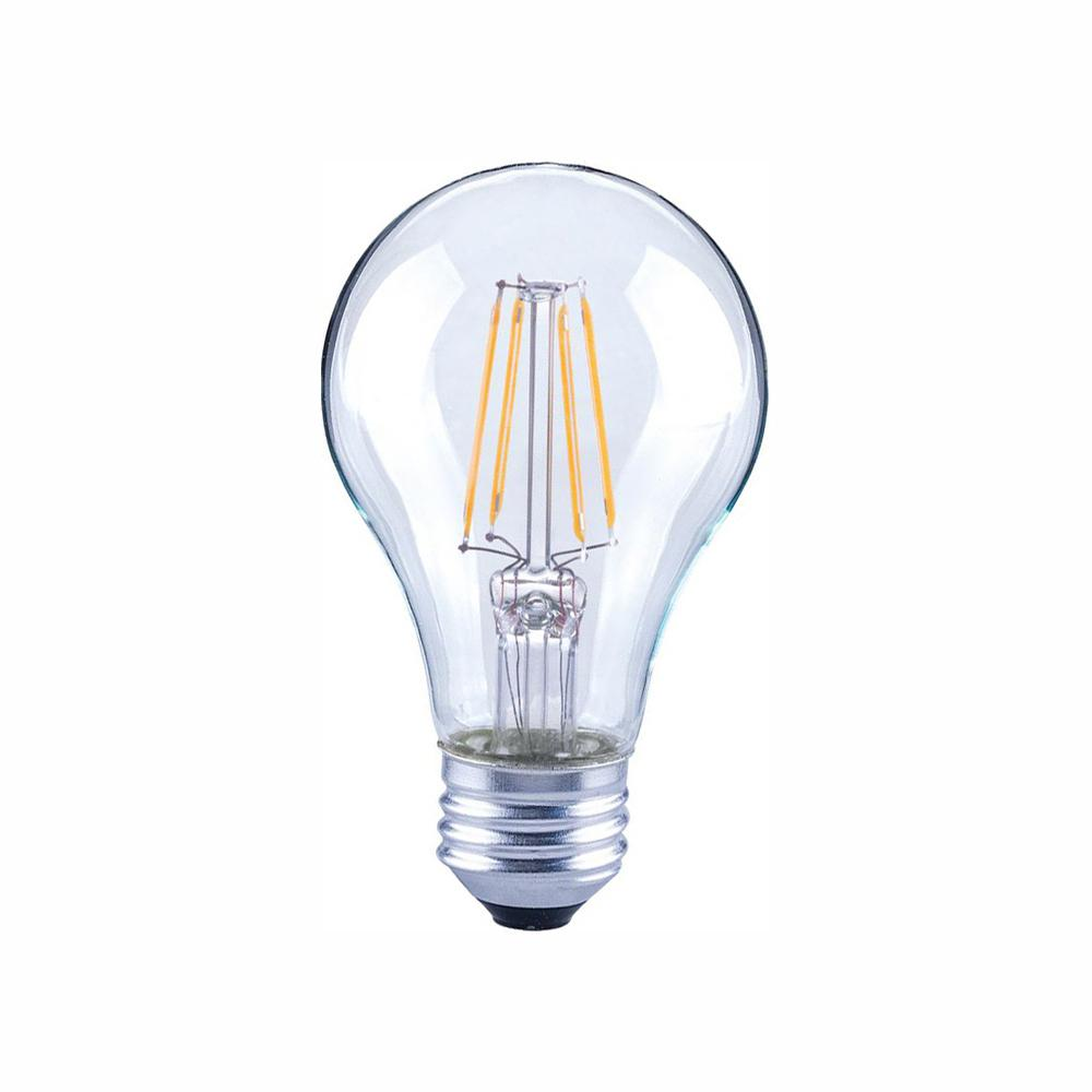 EcoSmart 40-Watt Equivalent A19 General Purpose Dimmable Clear Glass Filament Vintage Style LED Light Bulb Soft White (48-Pack)