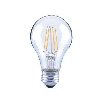 40-Watt Equivalent A19 General Purpose Dimmable Clear Glass Filament Vintage Style LED Light Bulb Soft White (48-Pack)