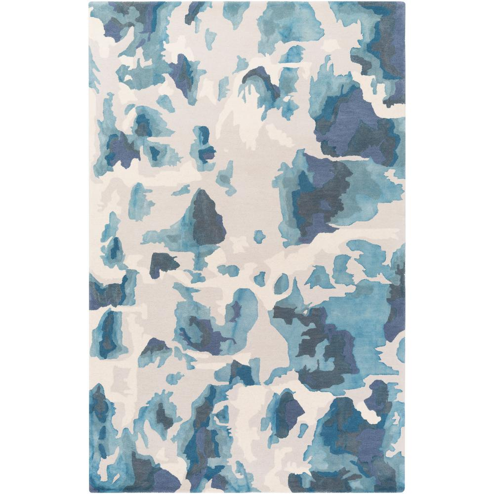 Geology Lillian Turquoise 8 ft. x 10 ft. Indoor Area Rug