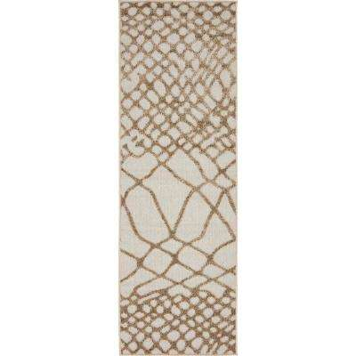Indoor/Outdoor San Jose Ivory 2' 0 x 6' 0 Runner Rug