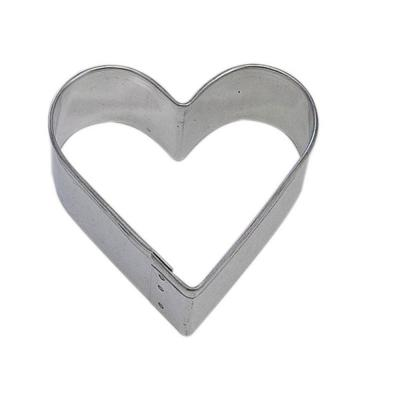 12-Piece 2 in. Heart Tinplated Steel Cookie Cutter & Cookie Recipe