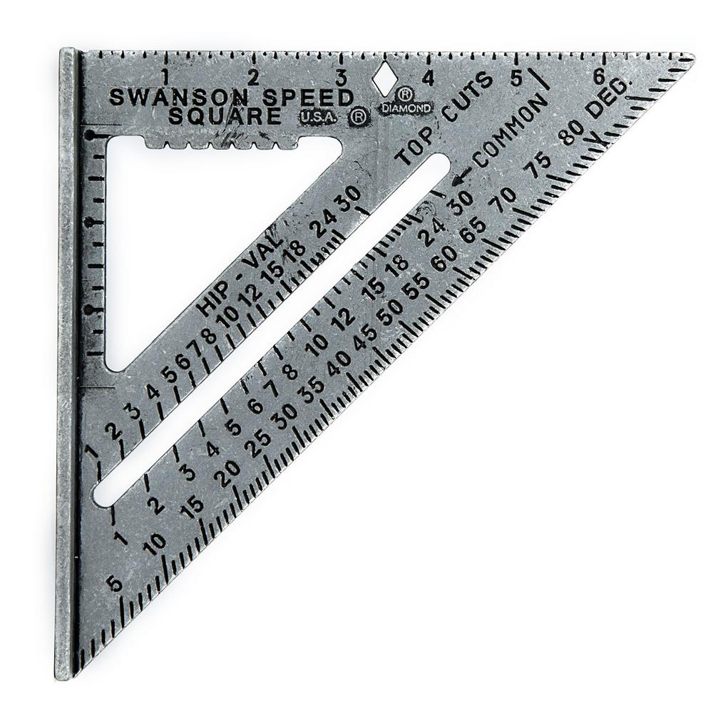 Swanson 7 In Speed Square Layout Tool With Black Markings And Blue Book S0101 The Home Depot