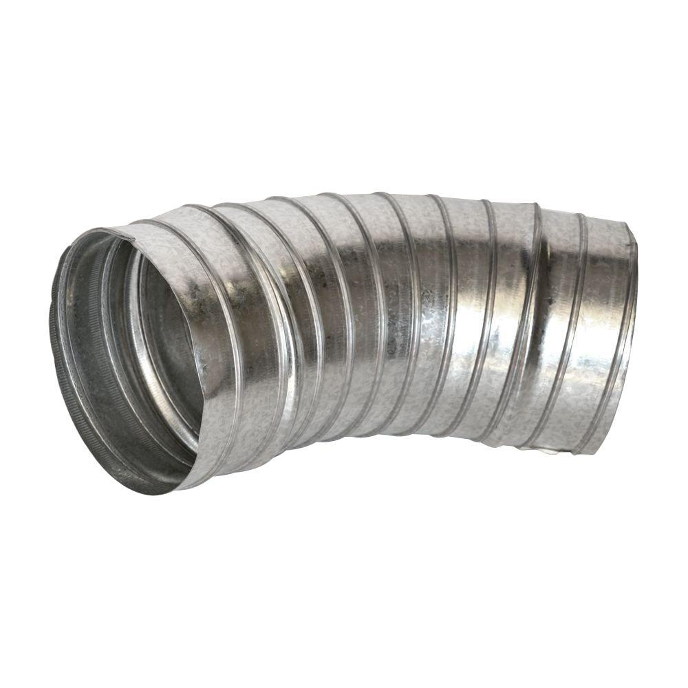 Spiral Pipe 5 in. 45 Degree Fixed Elbow
