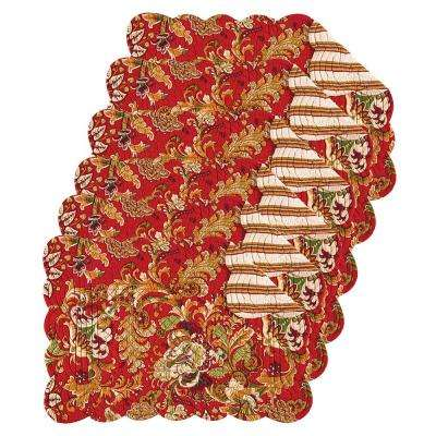 Jocelyn Red Placemat (Set of 6)