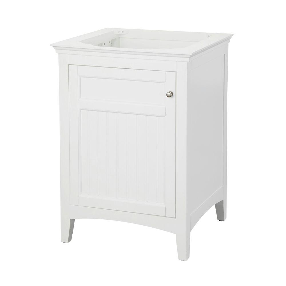 pegasus bathroom cabinets pegasus carrabelle 24 in vanity cabinet only in white 13940