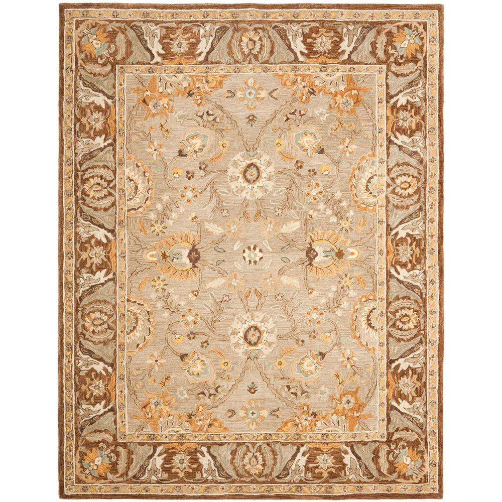 Anatolia Dark Grey/Brown 9 ft. x 12 ft. Area Rug