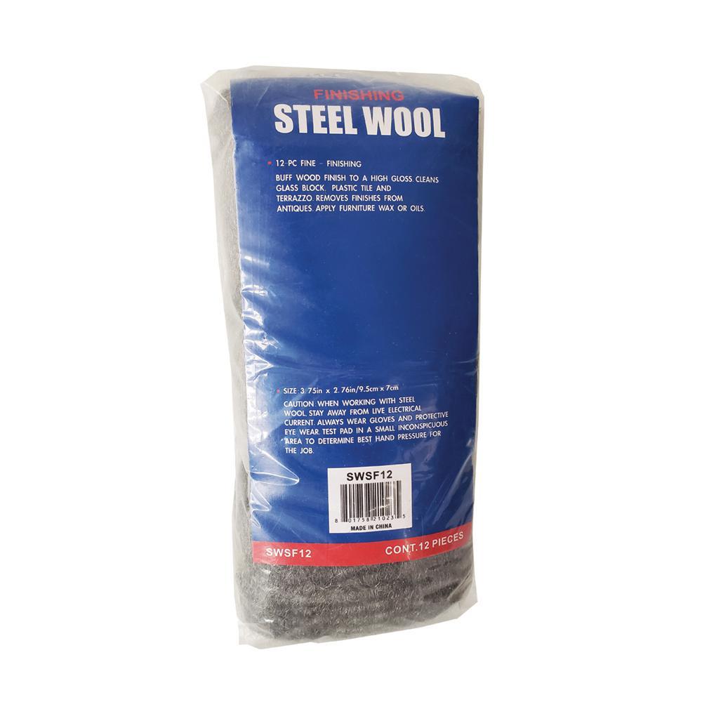 Grade #0000 Super Fine Steel Wool Pads (12-Pack)