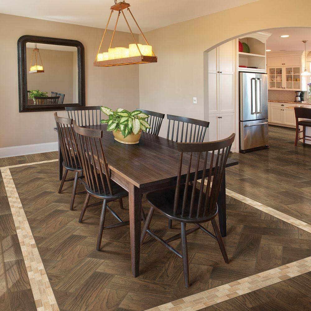 Daltile Parkwood Brown 7 In X 20 Ceramic Floor And Wall Tile 10 89 Sq Ft Case
