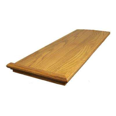 0.625 in. x 11.5 in. x 48 in. Prefinished Gunstock Red Oak Retread Left Return