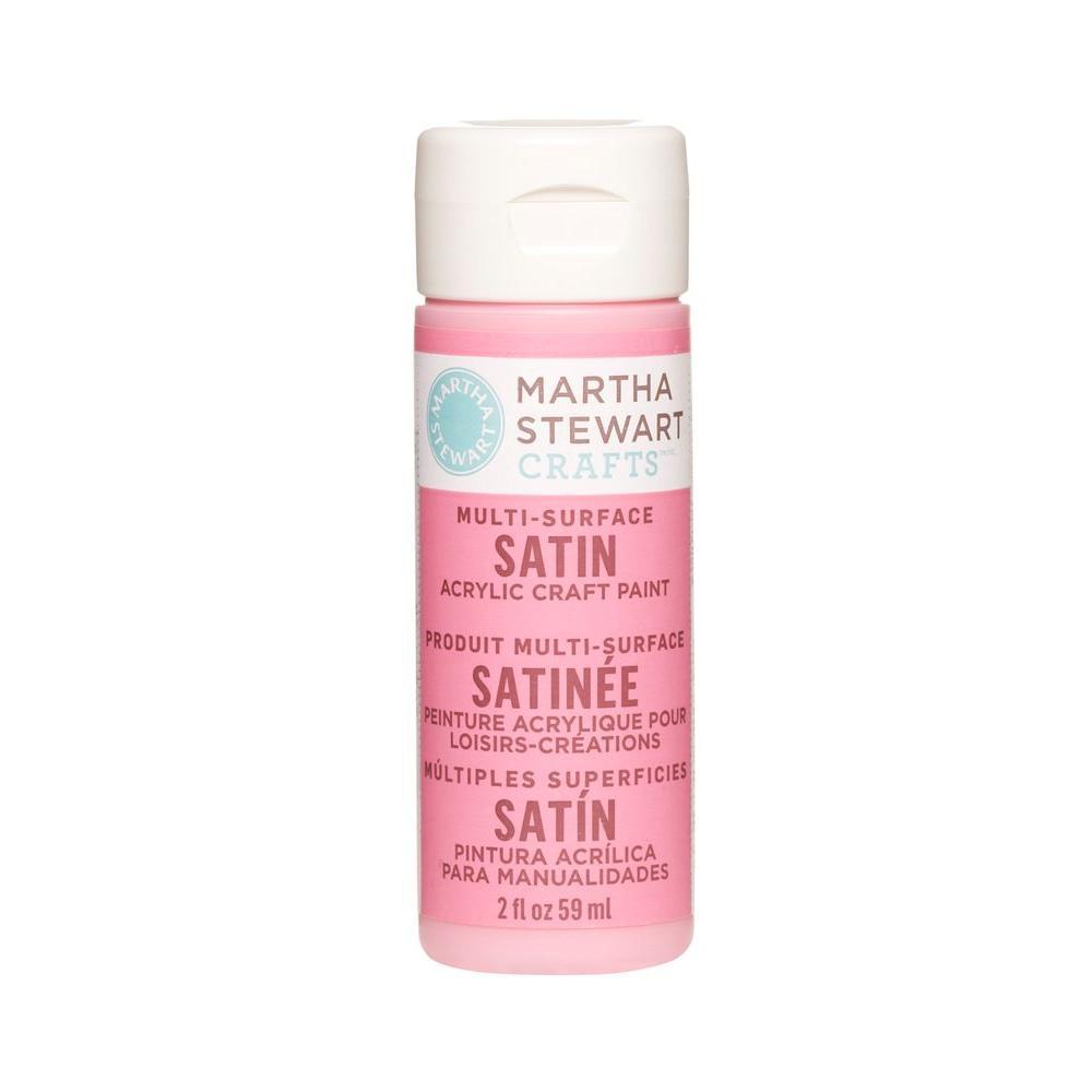 Martha Stewart Crafts 2-oz. Camellia Pink Multi-Surface Satin Acrylic Craft Paint