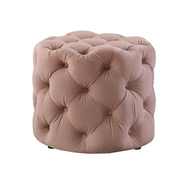 Fabulous Warehouse Of Tiffany Cairona Cream Tufted Ottoman El1668 Machost Co Dining Chair Design Ideas Machostcouk