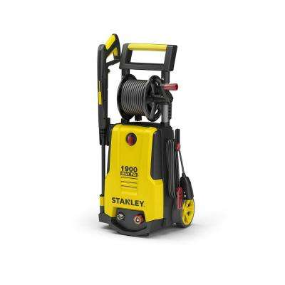 1,900 PSI 1.4 GPM Electric Pressure Washer 20 ft. Hose with Storage Reel, Detergent Tank, Spray Gun, 2 Nozzles and More