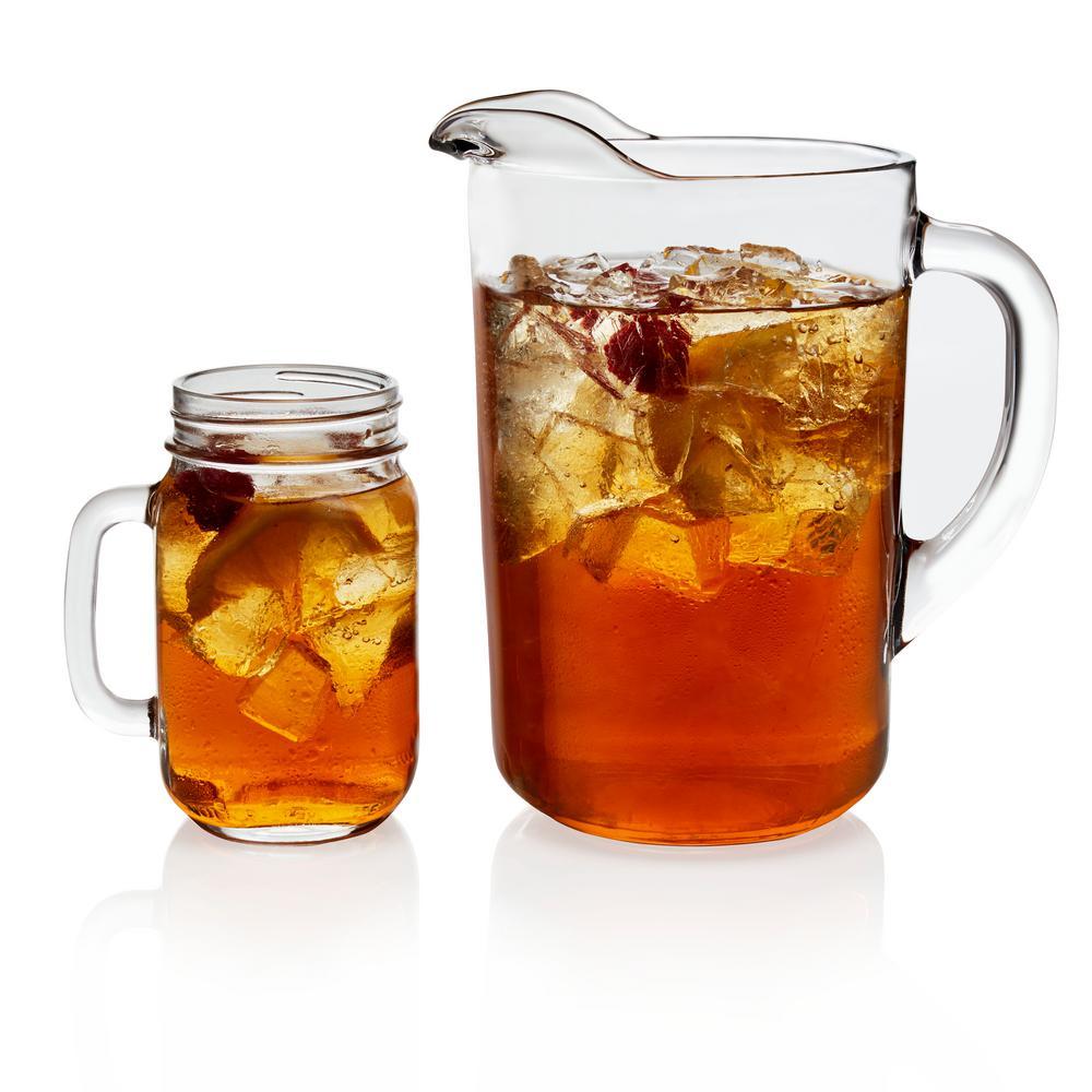 Country Folk 7-Piece Sweet Tea Glass Entertainment Set