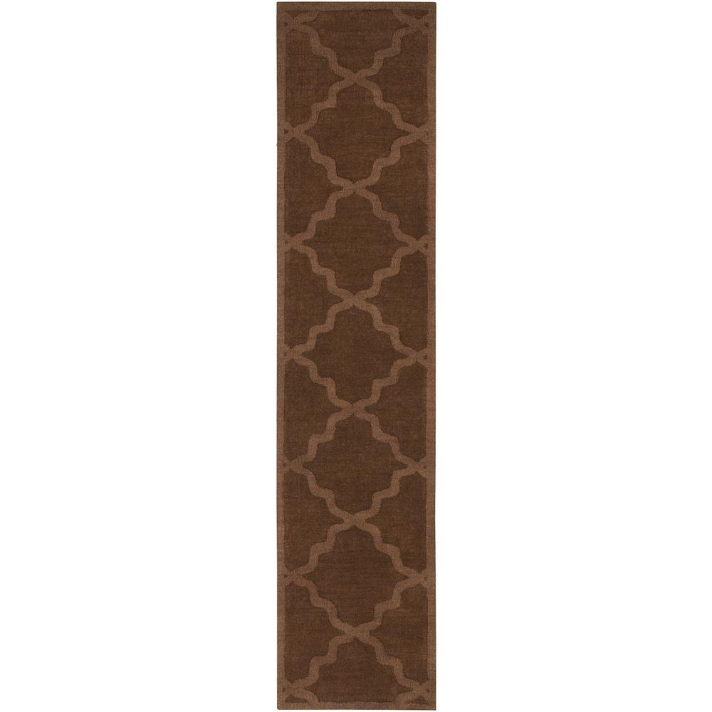Central Park Abbey Chocolate 2 ft. 3 in. x 8 ft.